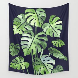 Delicate Monstera Blue #society6 Wall Tapestry