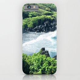 Hawaiian Black Sand Tropical Beach iPhone Case