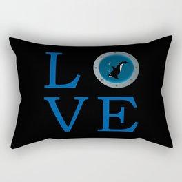 Orca love Rectangular Pillow