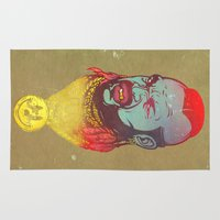 foo fighters Area & Throw Rugs featuring Pity Da Foo by Beery Method