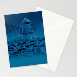 Pier and lighthouse Stationery Cards