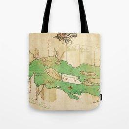 Vintage Map of Lake Champlain (1740) Tote Bag