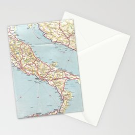 Italian Vintage Map of the Sixties Stationery Cards