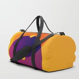 Yellow and Purple 8 (Eight) Duffle Bag