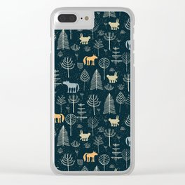Magic Storybook Northwest Forest Pattern Clear iPhone Case