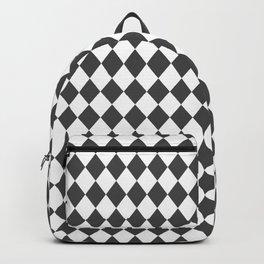 Cinder Grey Modern Diamond Pattern Backpack