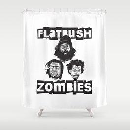 Flatbush Zombies BW Shower Curtain