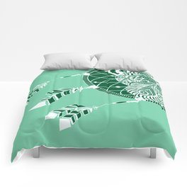 Mint Dreamcatcher Comforters