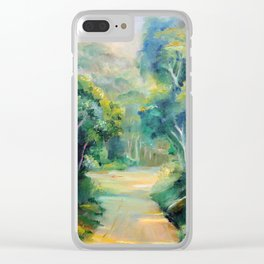 Caminho entre árvores (Path between the trees) Clear iPhone Case