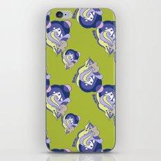 Moon Phase Art Deco Pattern iPhone & iPod Skin