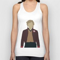 les miserables Tank Tops featuring Enjolras - Aaron Tveit - Les Miserables Minimalist design by Hrern1313