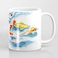 koi Mugs featuring Koi  by Bridget Davidson
