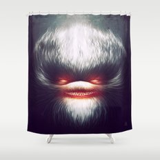 Furry Smile Shower Curtain