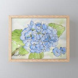 Blue Hydrangea Framed Mini Art Print