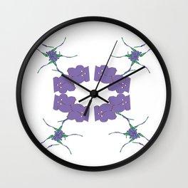 Circle of purple petals Wall Clock