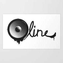 Bassline Art Print