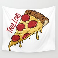 pizza Wall Tapestries featuring Pizza by jeff'walker