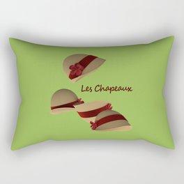 Les Chapeaux Rectangular Pillow