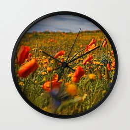Color the fields of Lancaster California Wall Clock