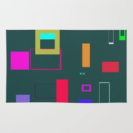Squares and Rectangles Rug