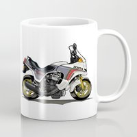 honda Mugs featuring 1982 Honda CX500TC Turbo by Saddle Bums