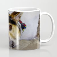 terrier Mugs featuring Terrier by Rick Kirby