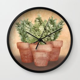 Rosemary and Thyme Wall Clock