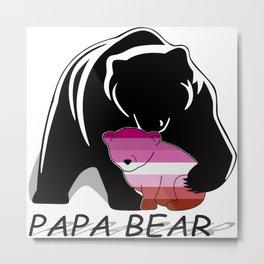 Papa Bear Lesbian Metal Print