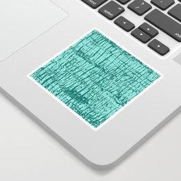 Palm Tree Texture Turquoise Sticker