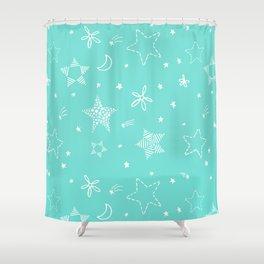 Star Doodles Shower Curtain