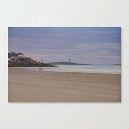 Twin Lights at Good Harbor beach Canvas Print
