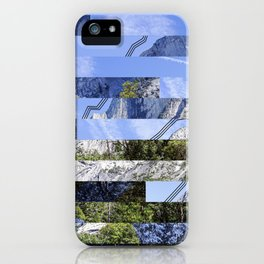 Yosemite Lines Corrupted iPhone Case