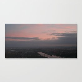 sunset from the hills Canvas Print