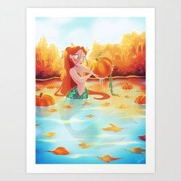 Autumn Mermaid Art Print