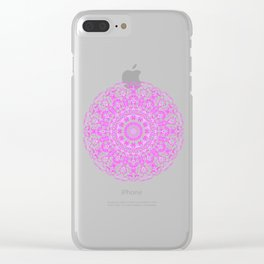 Mandala 12 / 2 eden spirit pink Clear iPhone Case