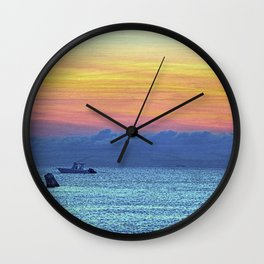 Fire Island Marina Wall Clock