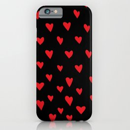 Red hearts love pattern iPhone Case