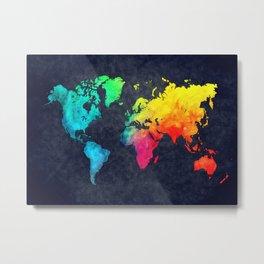 World map watercolor 6 Metal Print