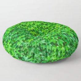 Deep Green Ivy Wall. Floor Pillow