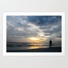 Walk into the sunset.. Art Print