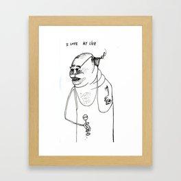I Love My Life. Framed Art Print