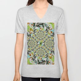 Distorted Abstract Unisex V-Neck
