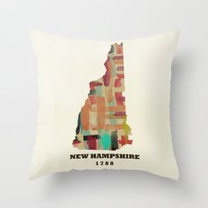 new hampshire state map modern Throw Pillow