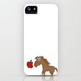 Horse Food iPhone Case