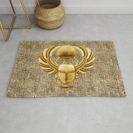 Gold Egyptian Scarab Rug