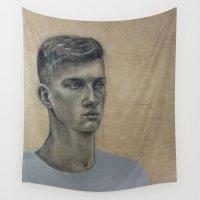 liam payne Wall Tapestries featuring Liam by Kalynn Burke
