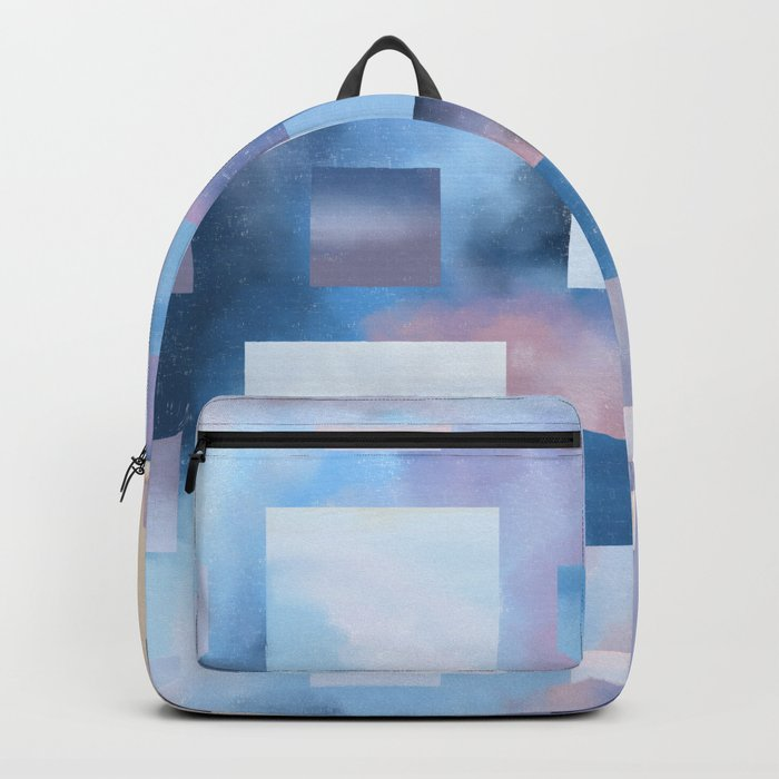 Pastel Squares (blue) Backpack