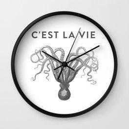 C'EST LA VIE Octopus - That's Life - Such Is Life Wall Clock