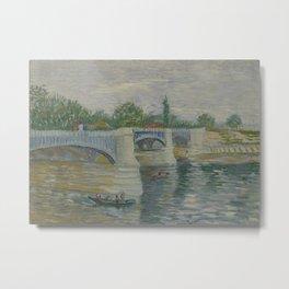 The Bridge at Courbevoie Metal Print