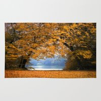 denmark Area & Throw Rugs featuring Autumn in Denmark by by Henrik Wulff Petersen (zoomphoto)